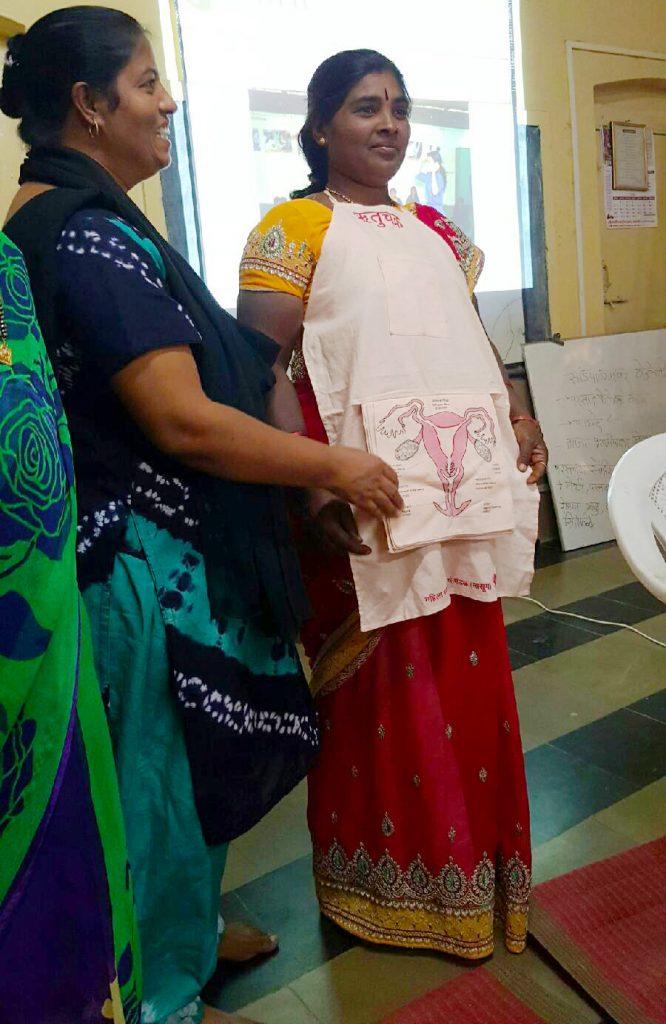 India woman uterus apron