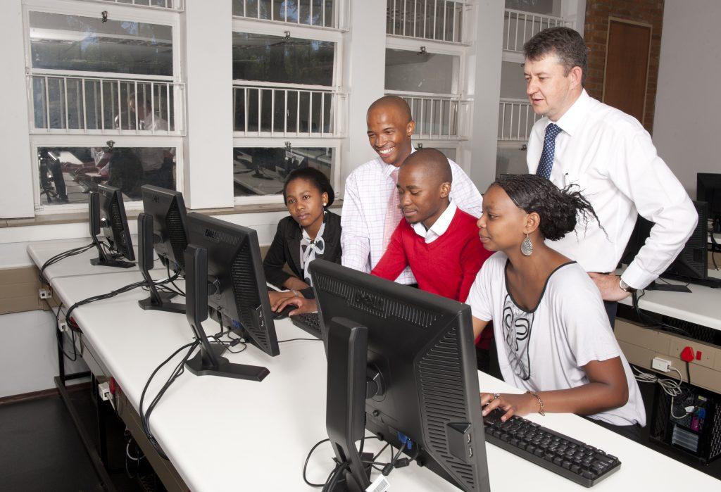 SA Youth, group, computer lab